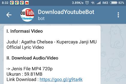 Membuat @DownloadYoutubeKuBot - Download Youtube Dengan Bot Telegram