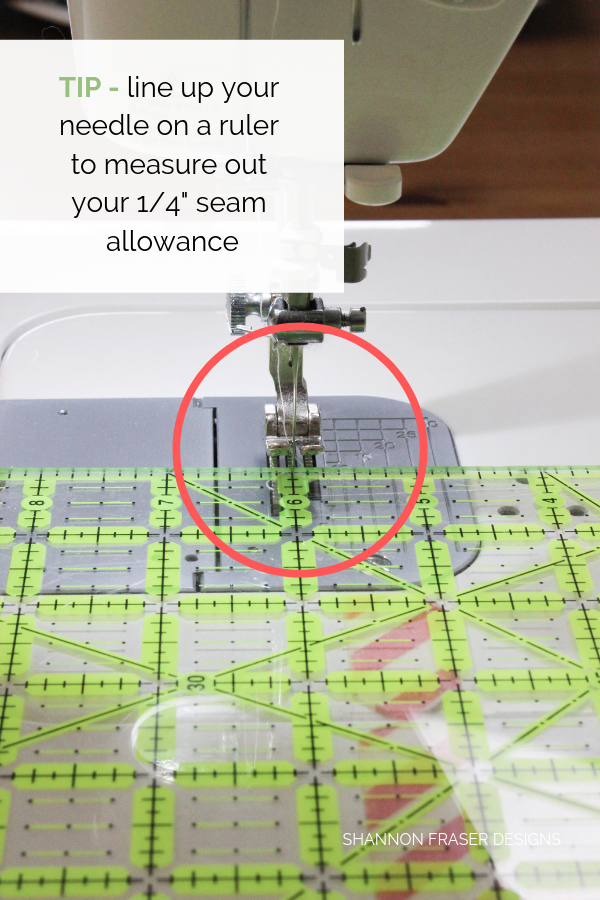 "Tips for measuring your 1/4"" seam allowance 