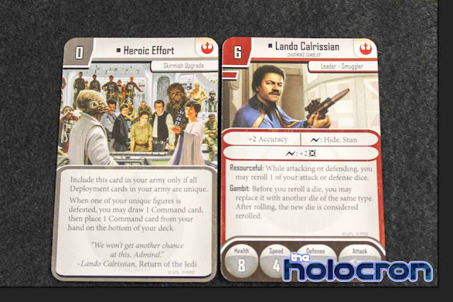 Imperial Assault Se filtran todas las cartas de Lando Calrissian