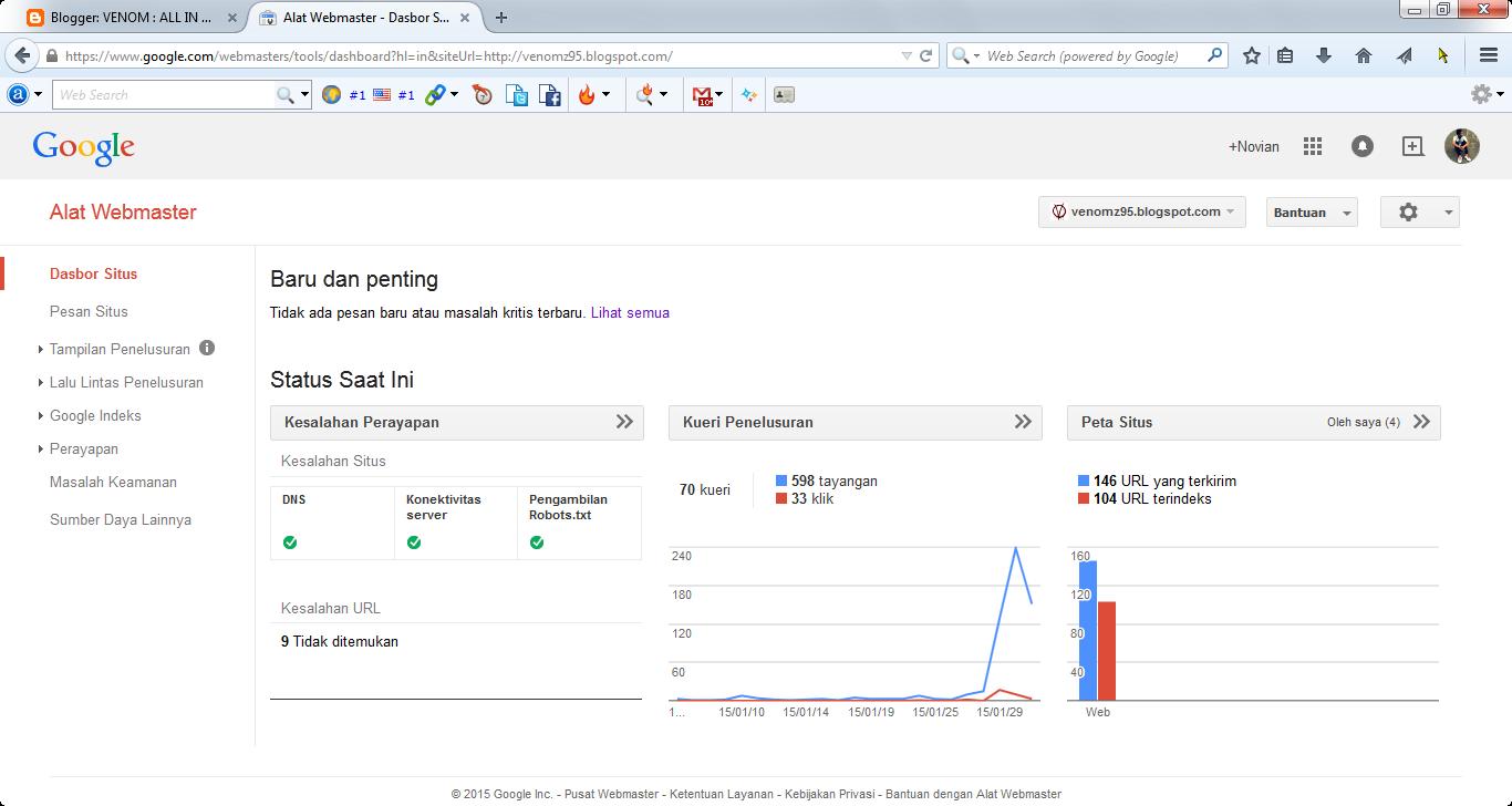 Cek Status Website Google Webmaster
