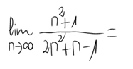 6. Límite de una sucesión (Cociente de polinomios) 1