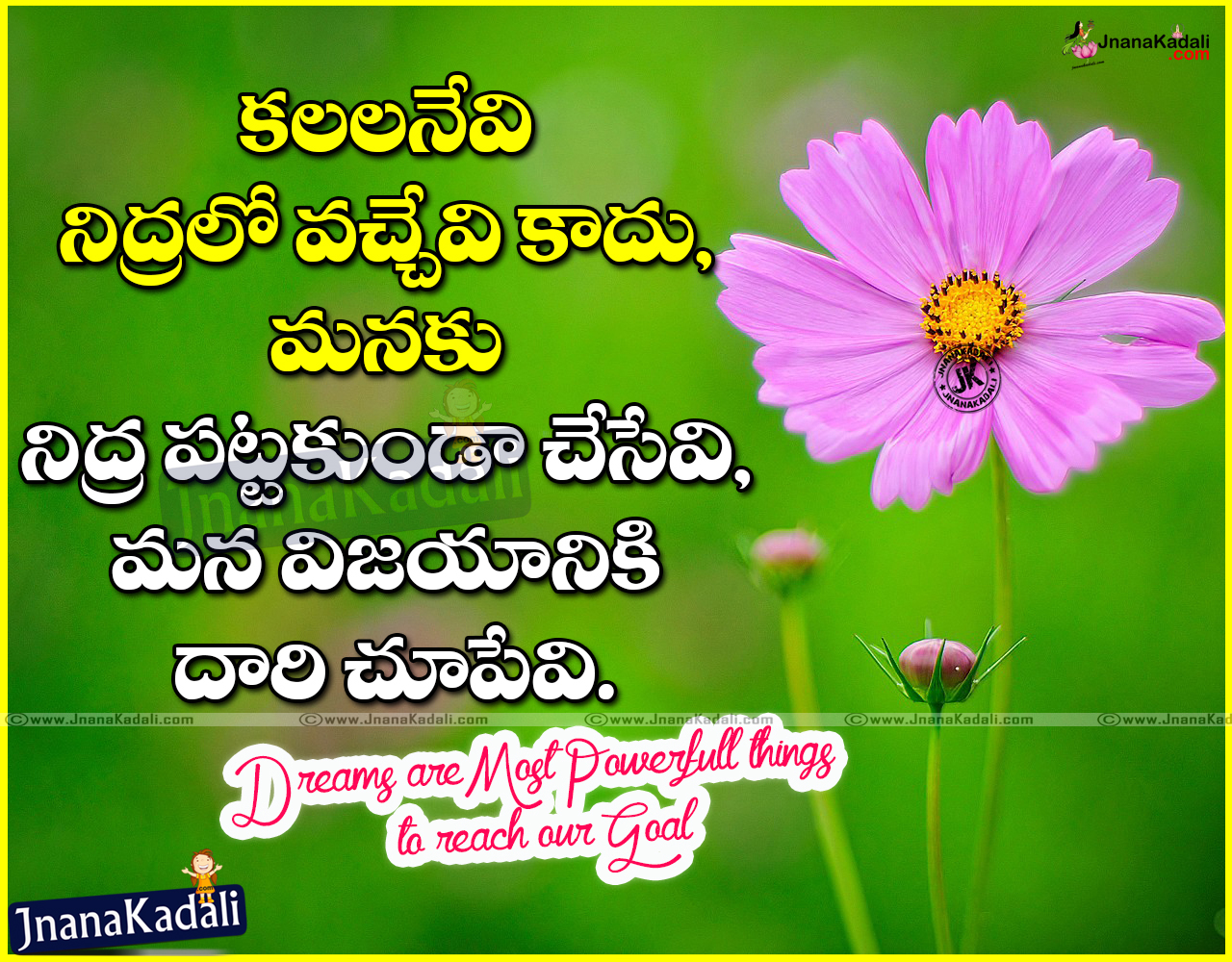 Telugu Motivational Quotes With Hd Wallpapers Jnana Kadali