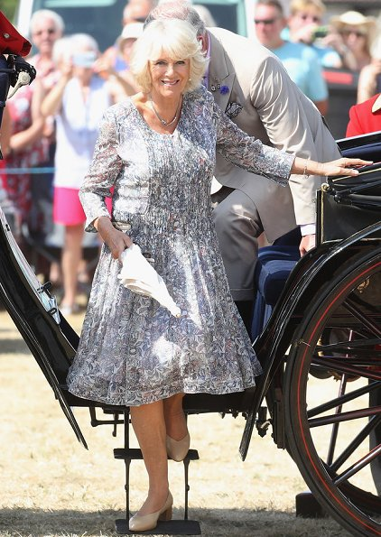 Prince Charles, Prince of Wales and Camilla, Duchess of Cornwall visited Sandringham Flower Show 2018 held at Sandringham Park