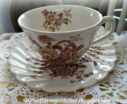 English transferware teacup