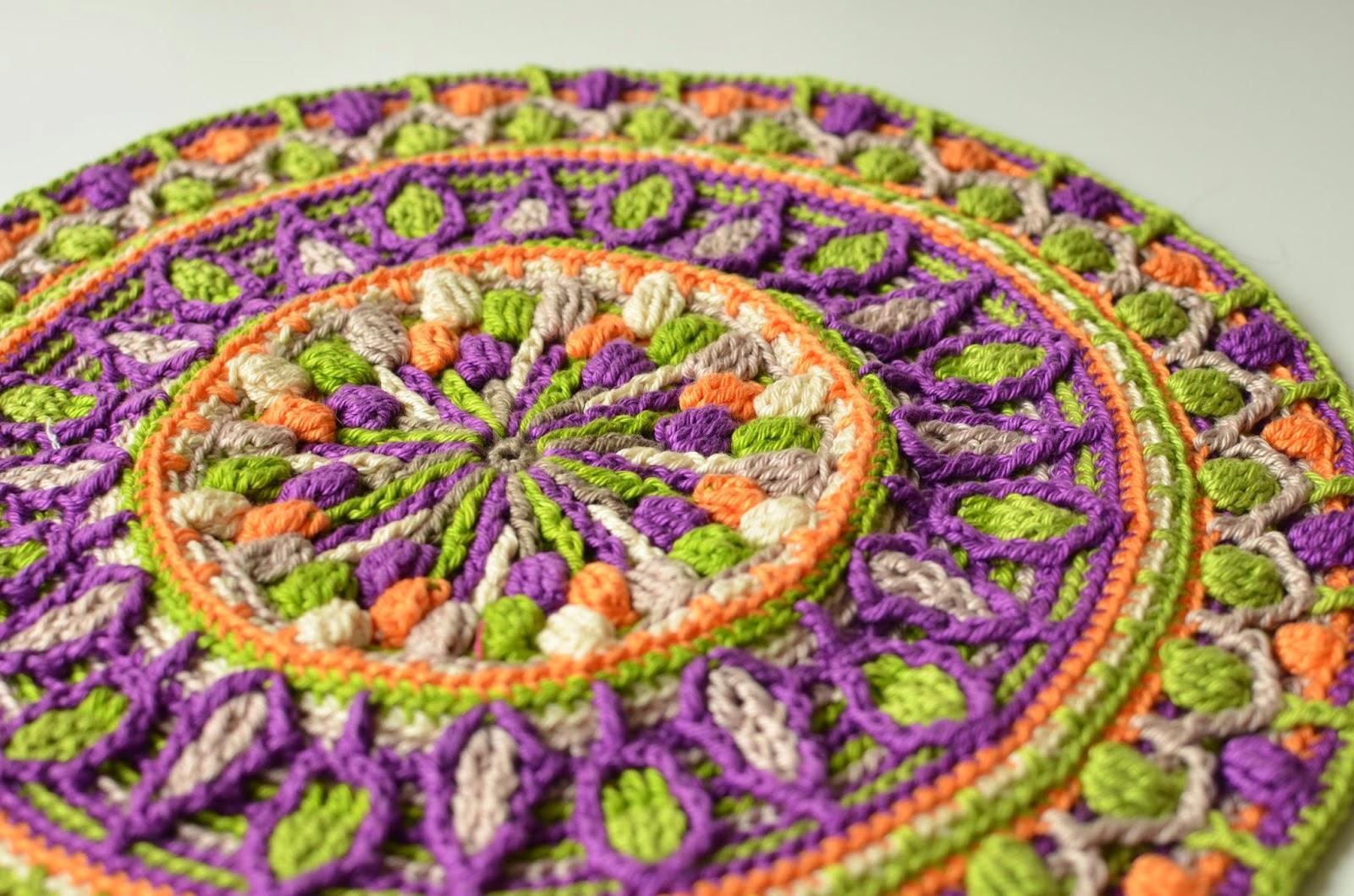 Mandala overlay crochet pattern