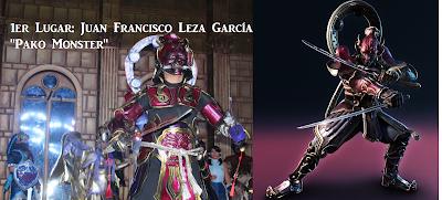 Juan Francisco Leza García de Saltillo se llevó la victoria con un gran traje de Yoshimitsu del videojuego Tekken. Su cosplay y su excelente performance sin duda convencieron al público y al jurado