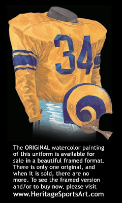 Los Angeles Rams 1951 uniform - St. Louis Rams 1951 uniform