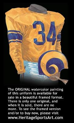 Los Angeles Rams 1951 uniform - St. Louis Rams 1951 uniform