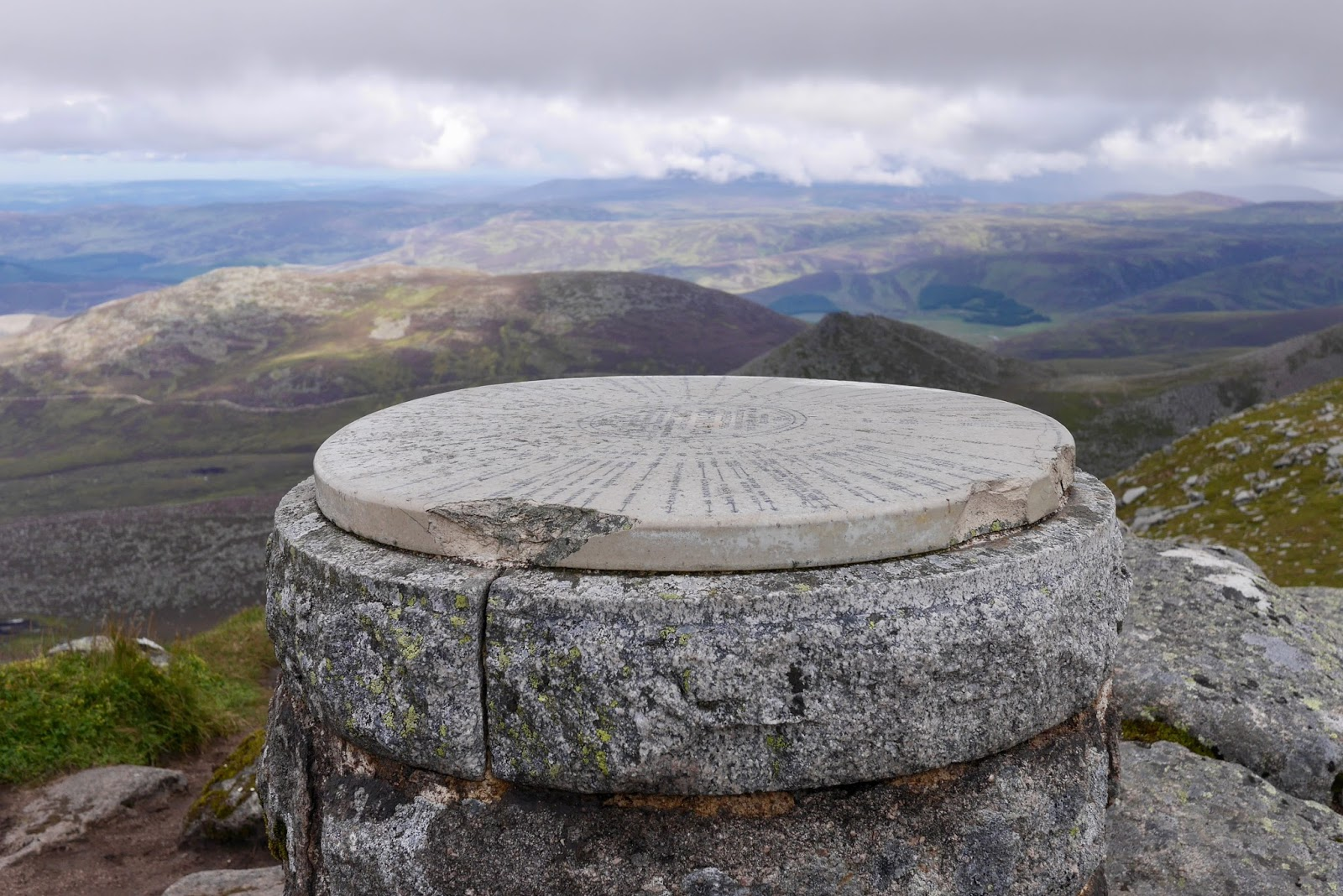 monument at the top of Loch at the top of Lochnagar Munro - Cal McTravel - www.calmctravels.com