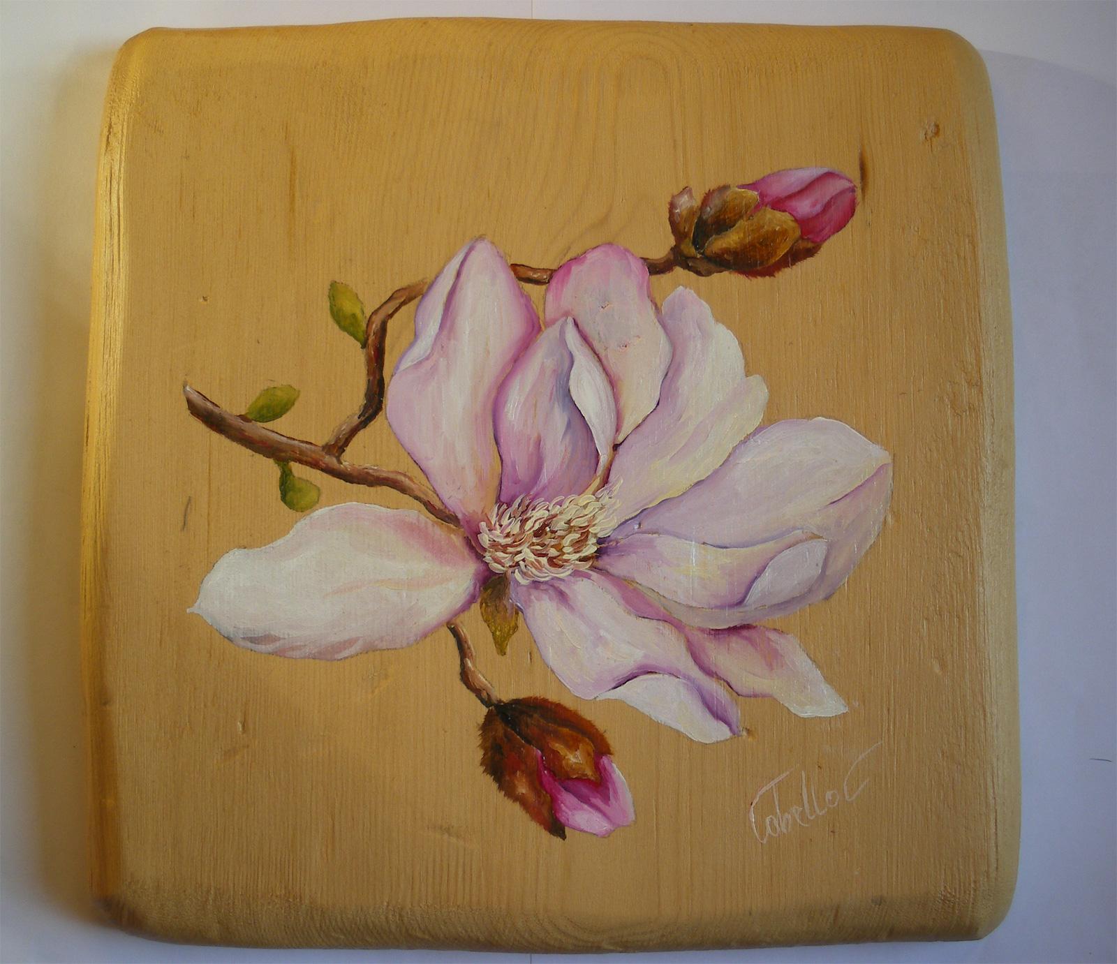 Estremamente Dipinti su legno e su pietra: Fiori su tavole di gembro (misure 25x25) XR72