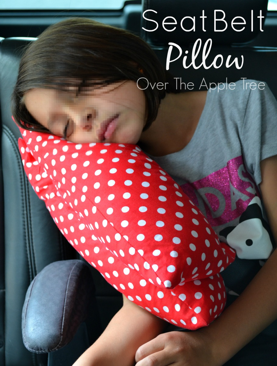 Over The Apple Tree Seat Belt Pillow