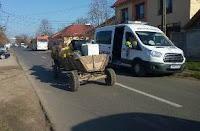 Sancționați deoarece au fost depistați circulând cu căruțele pe străzile orașului