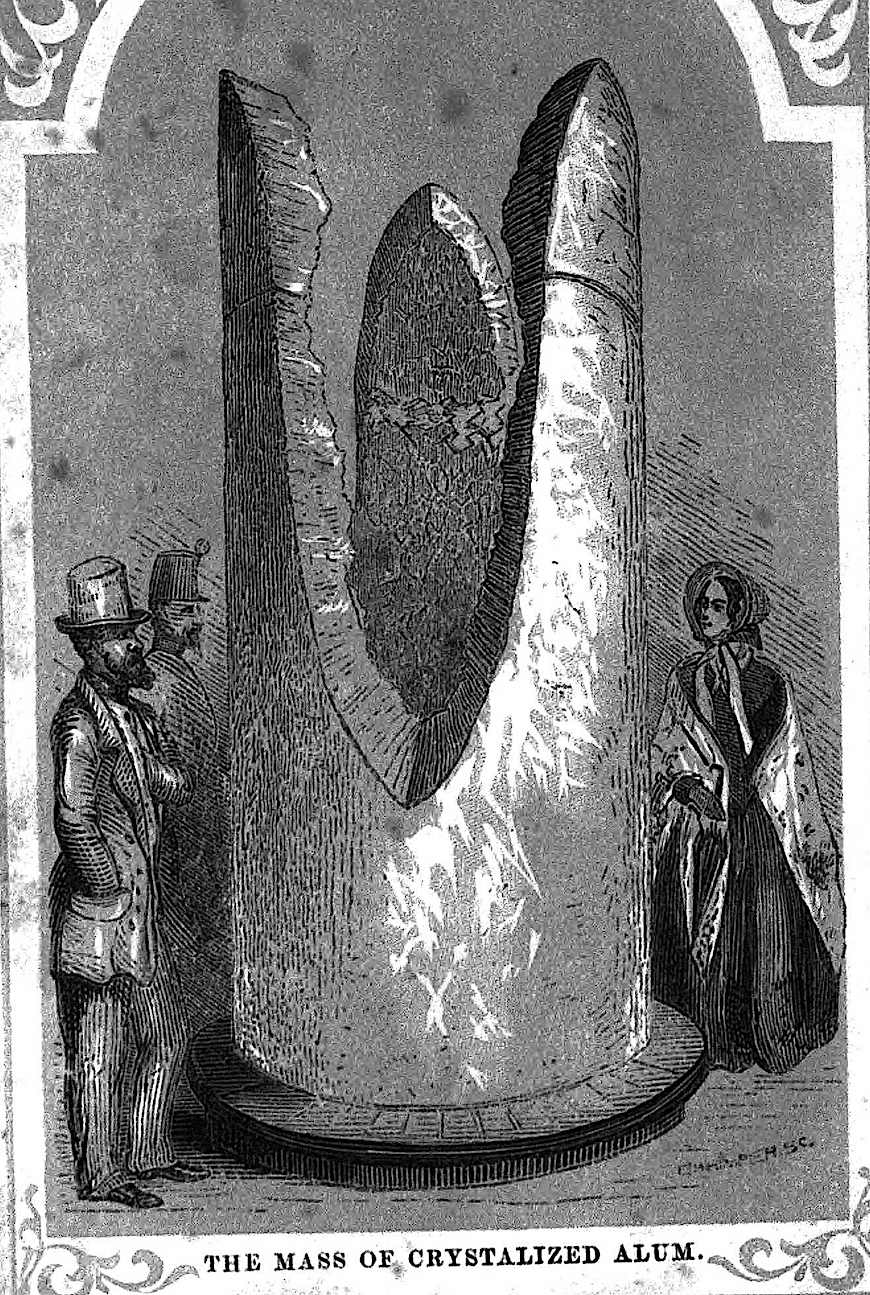 Mass of crystalized alum 1851 London world fair