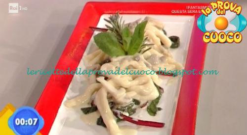 Fusilli al ferretto con funghi e fonduta di bitto ricetta Fava da Prova del Cuoco
