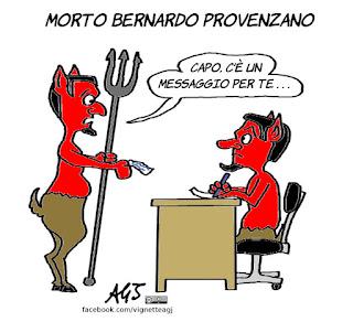 Bernardo Provenzano, mafia, cosa nostra, capo dei capi, pizzini, vignetta, satira