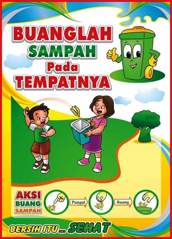 [Paling Populer!] Mewarnai Poster Kebersihan Sekolah