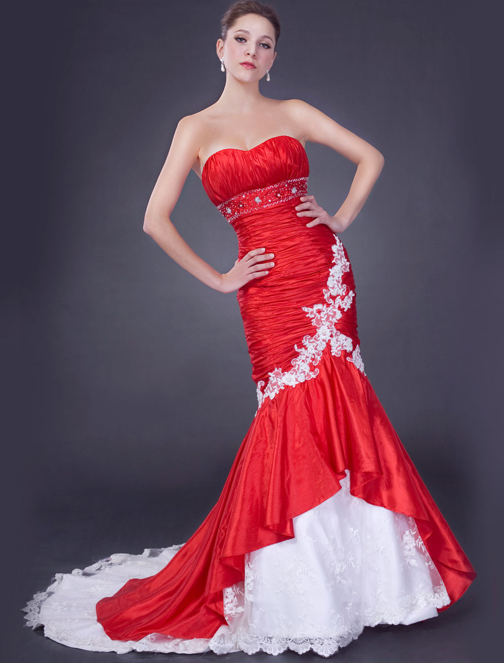 Wallpapers Background: Bridal Red Wedding Dresses | Bridal ...