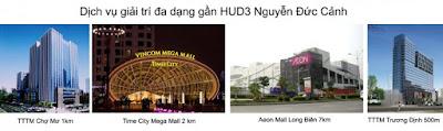 Chợ và siêu thị khu vực chung cư Hud3 Nguyễn Đức Cảnh