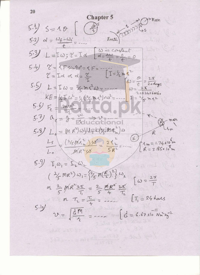 1st Year Physics Solved Numericals Chapter 5 Circular Motion - 11th