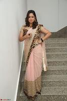 Shilpa Chakravarthy in Lovely Designer Pink Saree with Cat Print Pallu 009.JPG