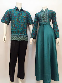 Model Long Dress Batik Kombinasi Modern Remaja