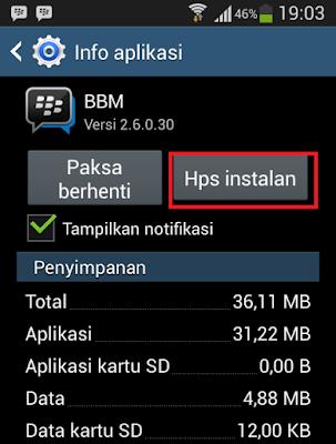 Cara Ganti BBM Terbaru Dengan Versi Lama (Downgrade) di Android