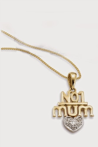 9ct Gold No.1 Mum Pendant With Diamond