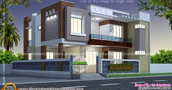 Modern style indian home kerala home design and floor plans - Front view of home design in india ...