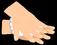 石鹸で手を洗う順番のイラスト(手の甲)