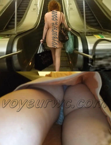 Upskirts N 2361-2380 (Subway station upskirt with amateur girls)