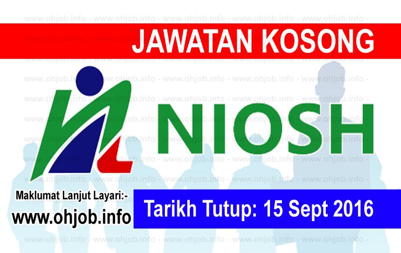 Jawatan Kerja Kosong Institut Keselamatan dan Kesihatan Pekerjaan Negara (NIOSH) logo www.ohjob.info september 2016