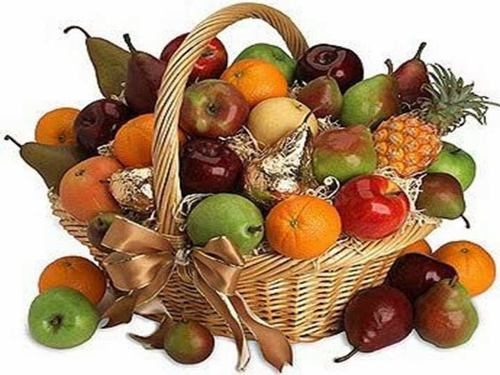 good morning with mix fruit wallpaper