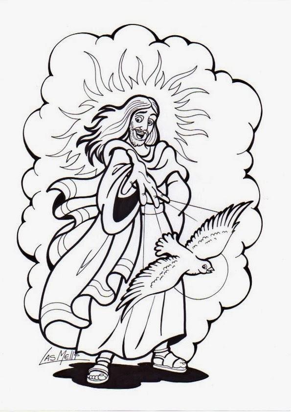 Parroquia La Inmaculada: Pentecostés: Láminas colorear, manualidades ...