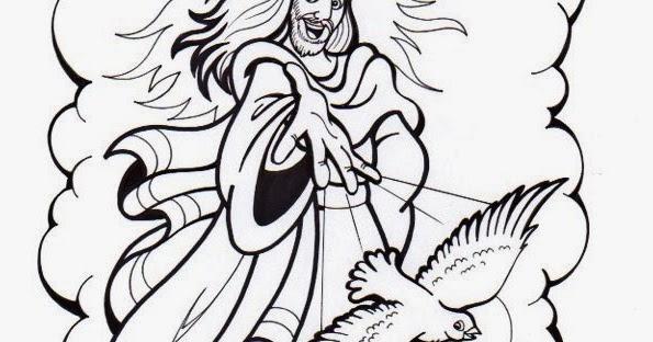 El Rincón de las Melli: DIBUJO: Jesús envía al Espíritu Santo