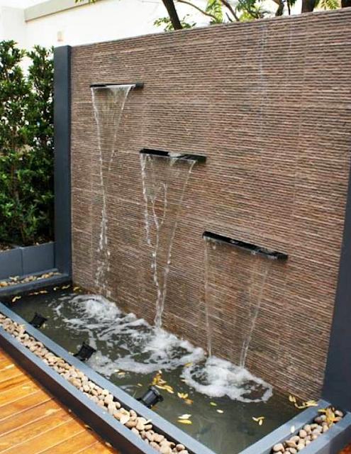 10 Desain Taman Belakang Dengan Kolam Air Terjun Mini Yang Mengagumkan - 008