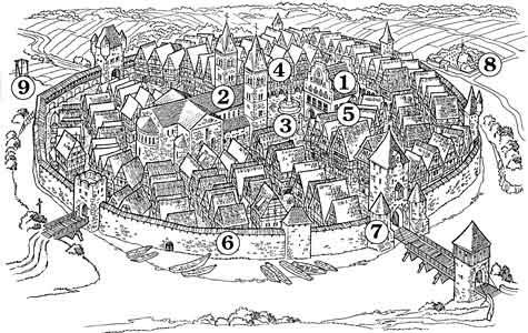 stadt im mittelalter 8 wie sah eine mittelalterliche stadt aus aufbau geb ude. Black Bedroom Furniture Sets. Home Design Ideas