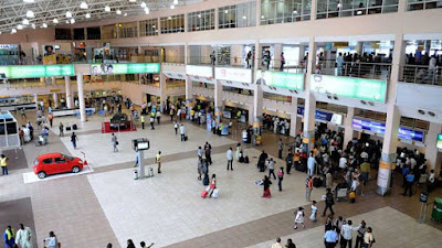Nigerian Lady Impregnated In Libya Gives Birth At Lagos Airport