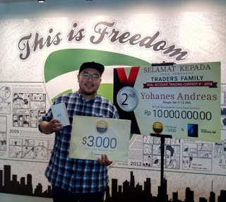 Yohanes, juara dalam Traders Family Trading Contest