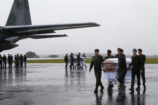 Llegan a Brasil los cuerpos de jugadores del Chapecoense