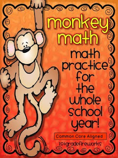 monkey math, first grade math