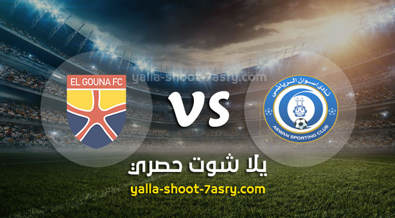 نتيجة مباراة اسوان والجونة اليوم الثلاثاء بتاريخ 07-01-2020 الدوري المصري