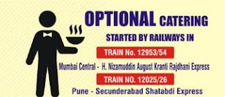 Optional Catering Services in Trains started