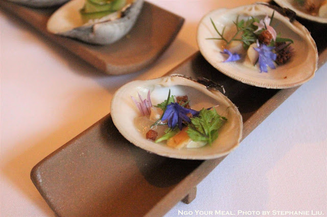 Little Neck Clam Clambake with Velouté and Parker House Rolls 2011 at Eleven Madison Park in New York City