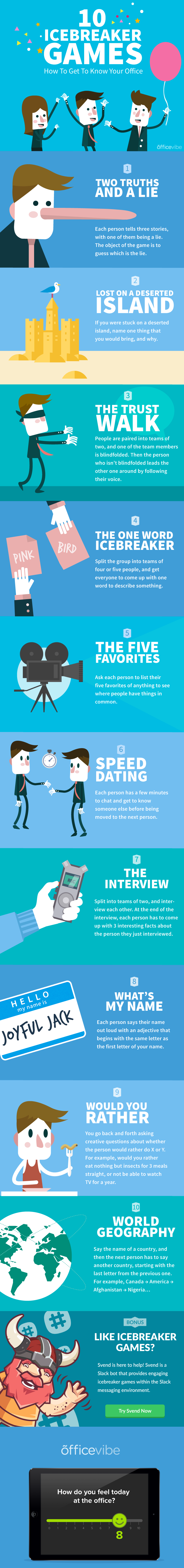 10 Icebreaker Games: How To Get To Know Your Office #Infographic