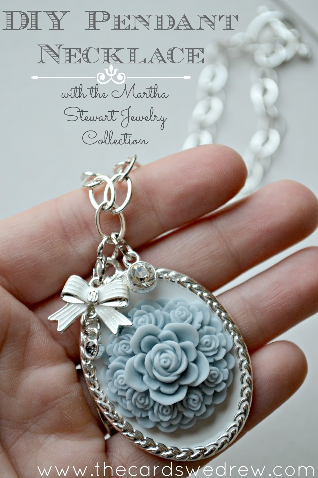 """I found an amazing DIY idea on """"Saving With Sarah"""" blog: DIY photo pendant. A wonderful Mother's Day gift or also birthday gift that is very easy to make and also will cost you less than $."""