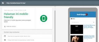 cara Mengecek Apakah Blog anda termasuk Mobile-Friendly