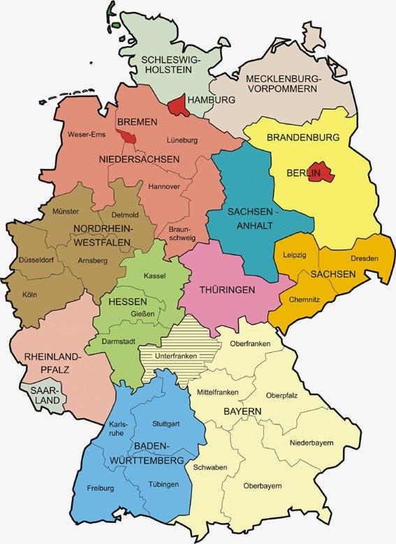 Niemiecki dla początkujących: Lekcja 8. Niemieckie Landy