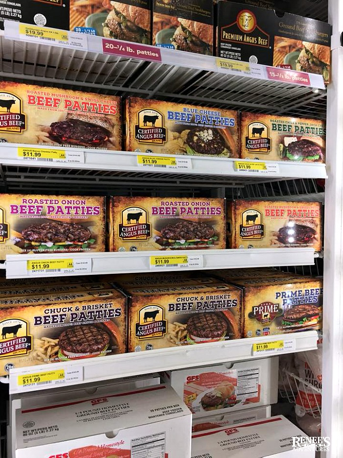 Frozen Certified Angus Beef ® brand Beef Patties on shelf