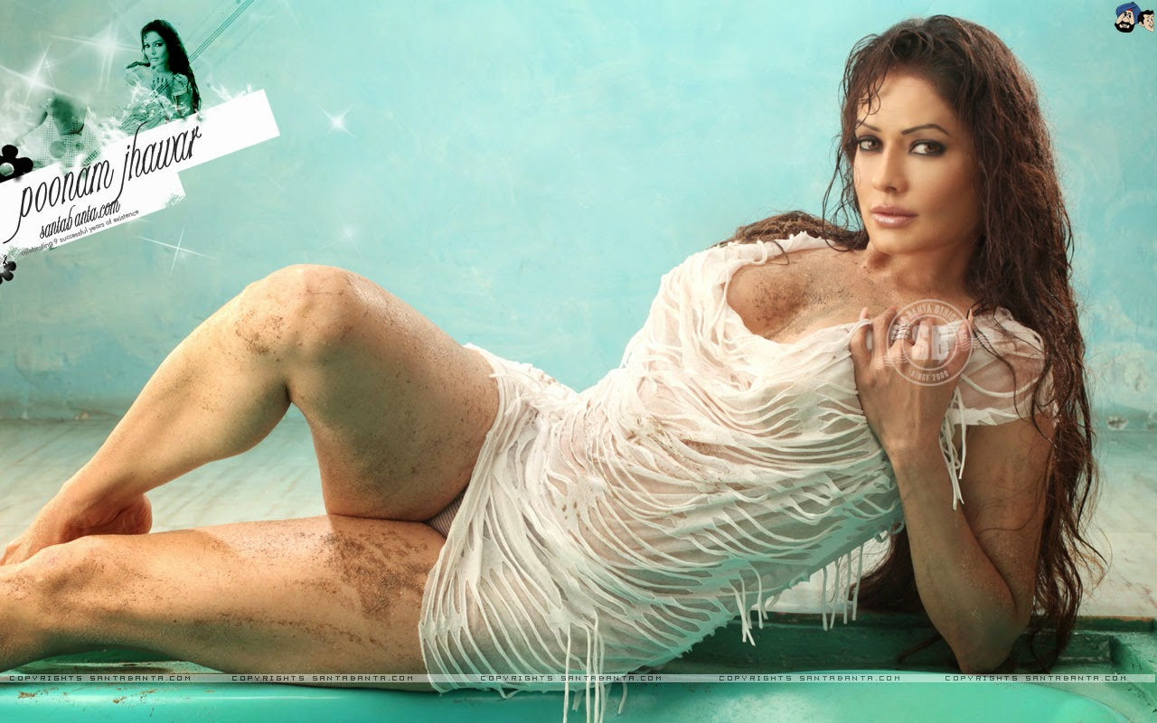 Wet White Apparel Sexy Wallpapers Of Poonam Jhawar