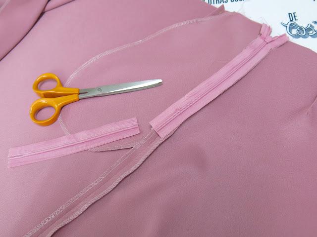como coser cremallera oculta